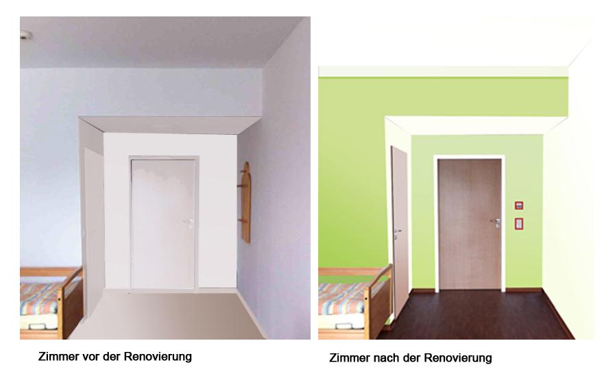 Orientierungslosigkeit bereitet an demenz erkrankten for Raumgestaltung 2 farben